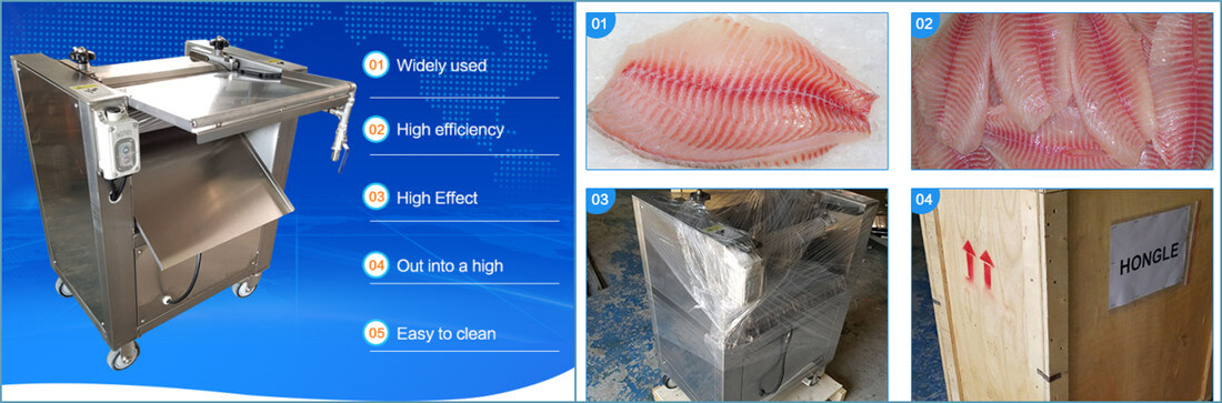 Automatic Fish Skin Removing Machine