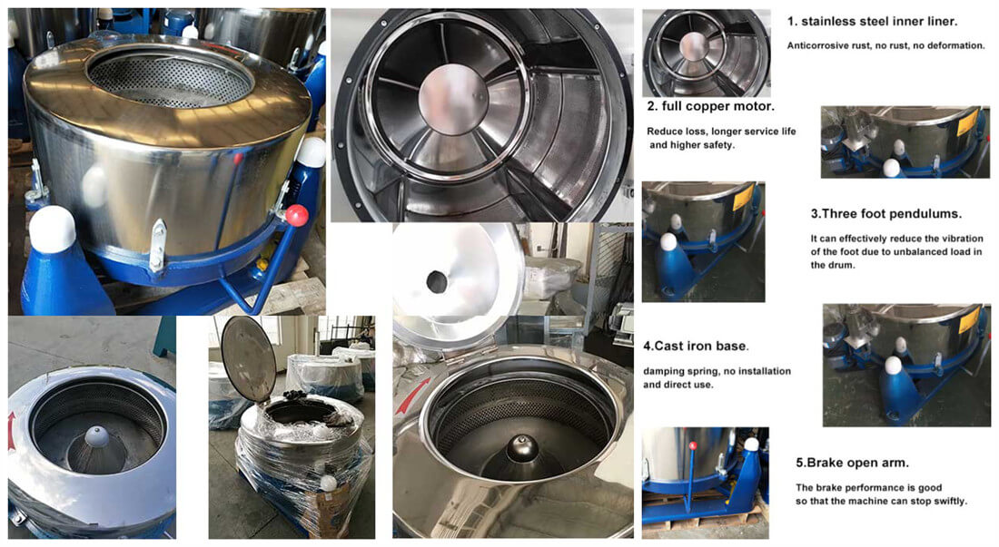 Commercial sesame Spin Dryer features