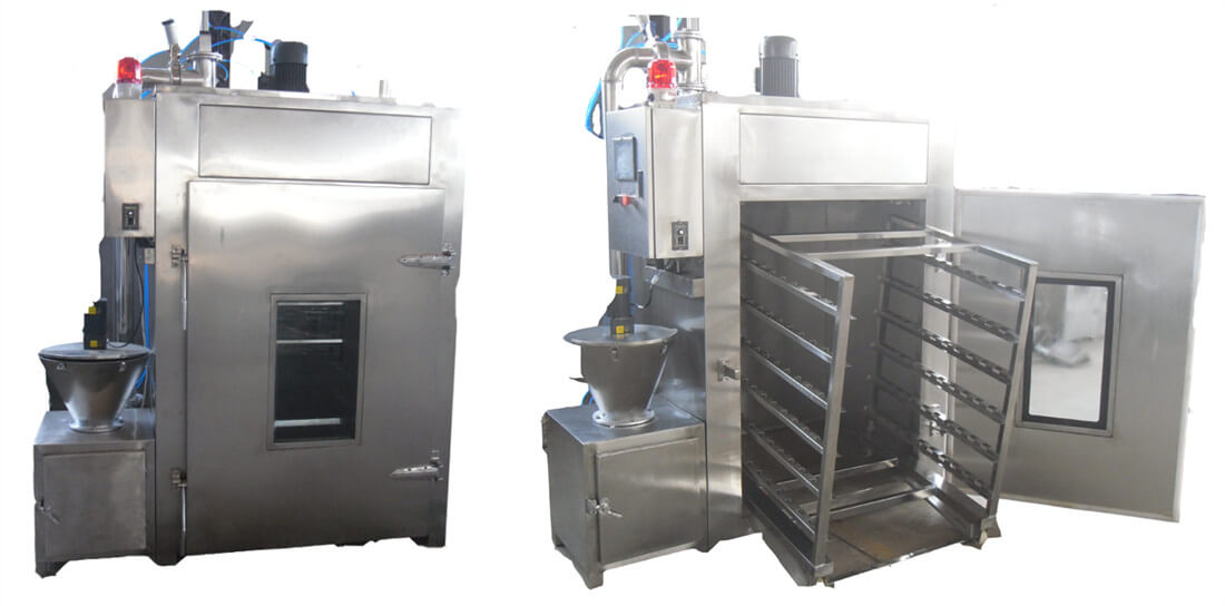 Good price meat smoke oven with trolley