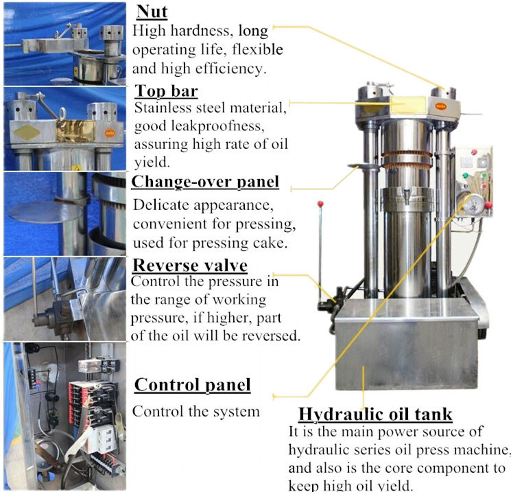 Hydraulic Oil Press Machine Feature