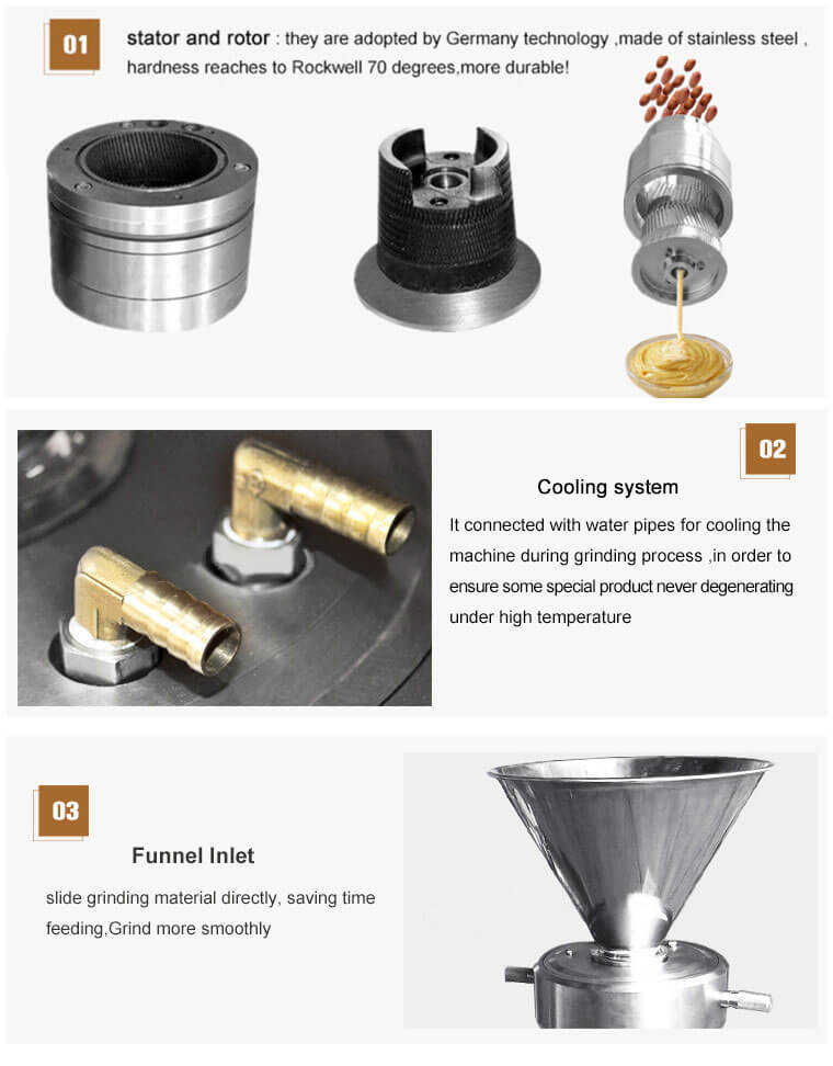 Nut and Bone Grinding Machine Features
