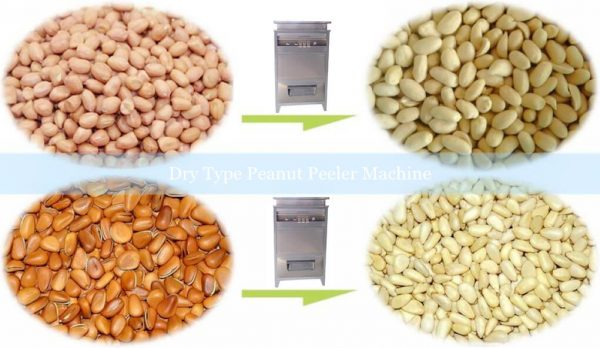 Peeled peanut kernels