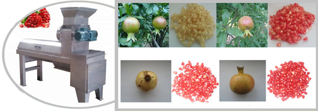 Pomegranate peel removing machine