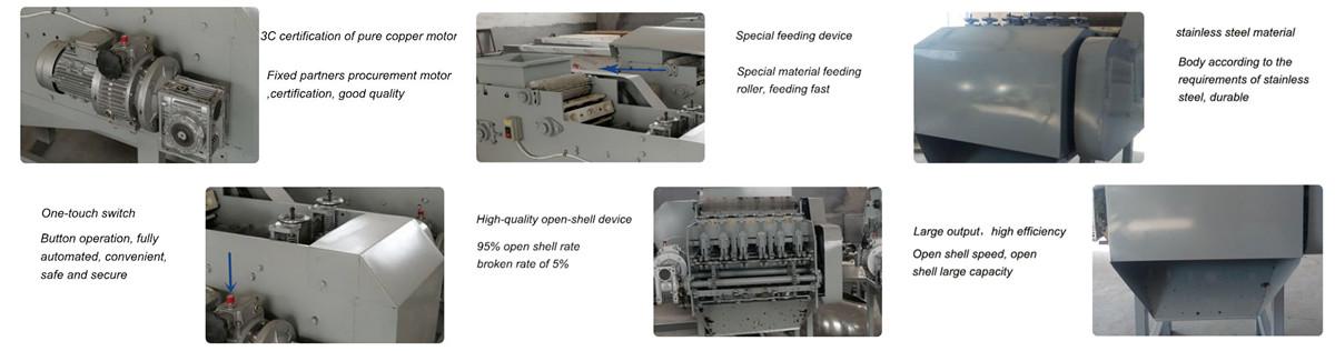 Semi-automatic Cashew Shelling Machine Feature
