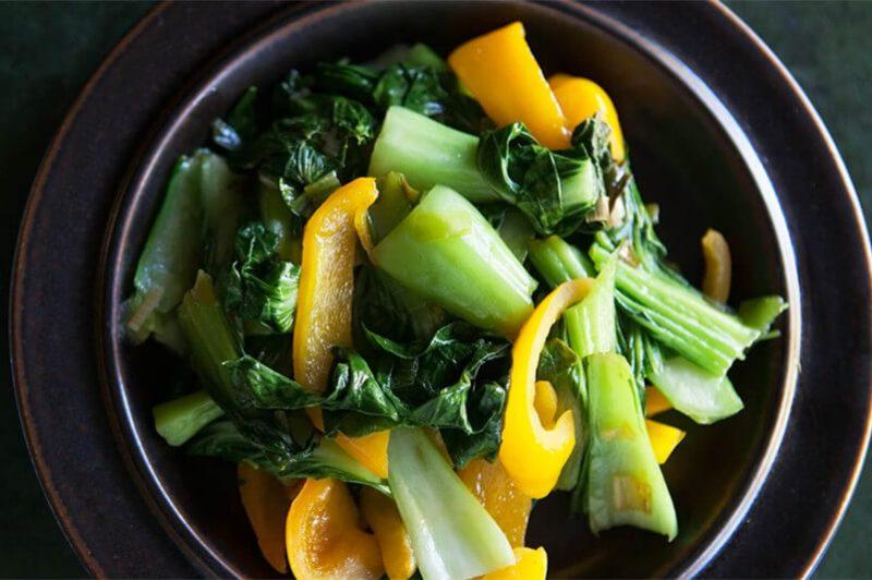 Stir Fried Bok Choy & Pepper