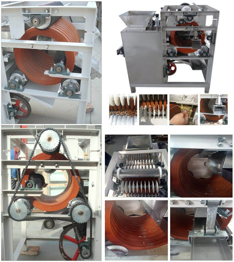 Wet Type Peanuts Peeling Machine Features