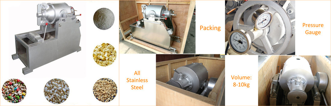 airflow grain puffing machine with excellent service