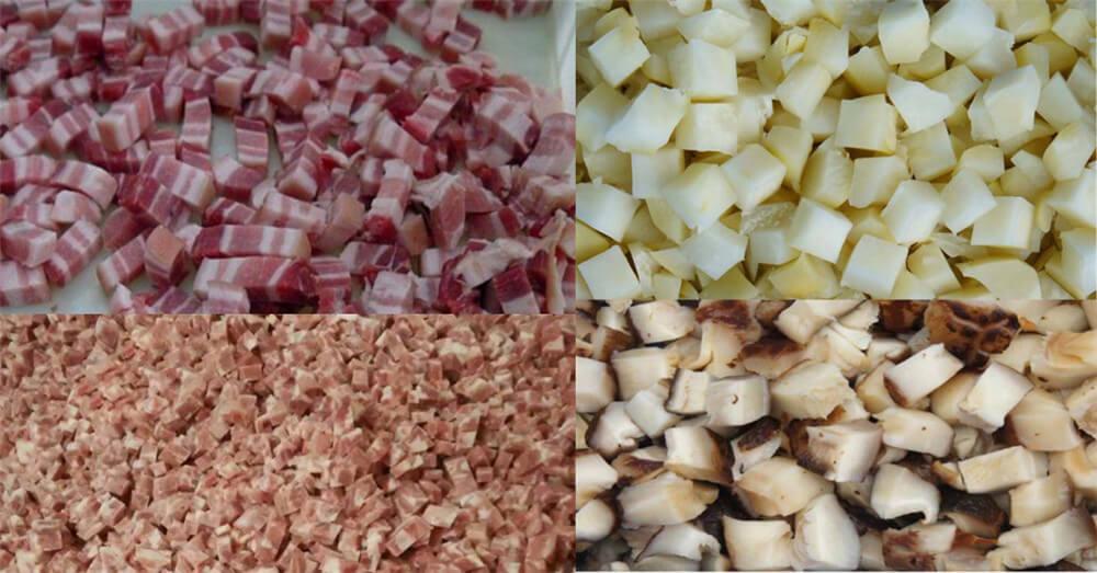 automatic frozen meat cutting machine application