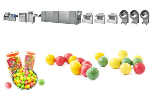 bubble chewing gum productions line