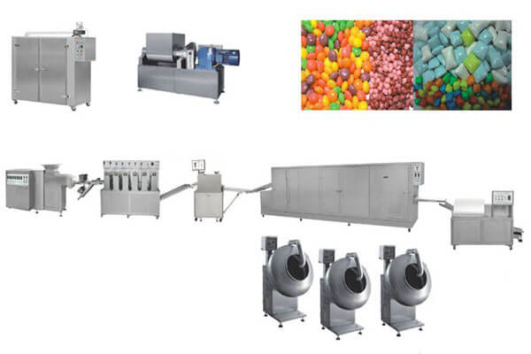 chewing gum pellets forming machine