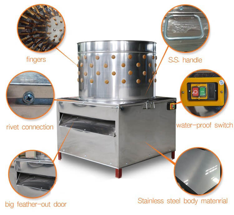 chicken feather removing machine details info