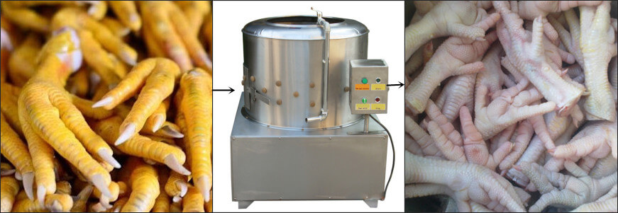 chicken paw peeling machine