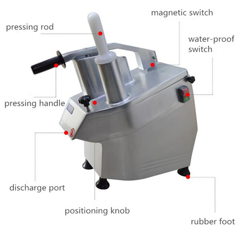 commerical vegetable slicer structure