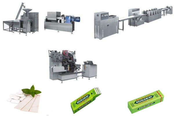 flake chewing gum production line