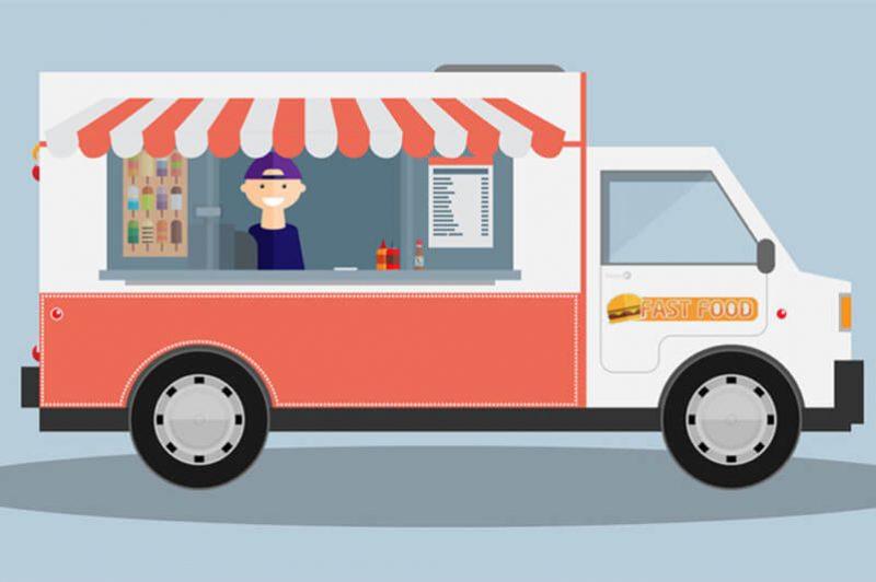 food truck for vending food