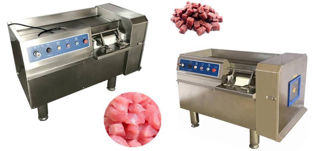frozen meat cube cutting machine