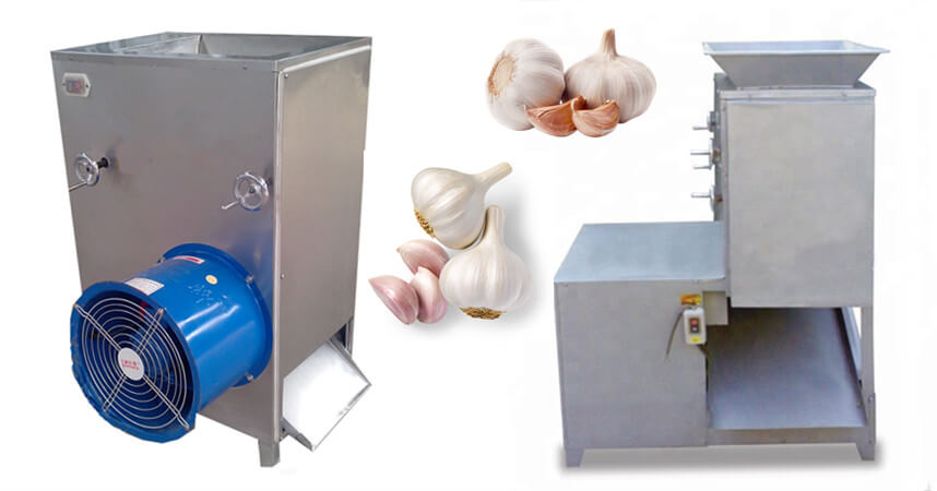 garlic clove separating machine