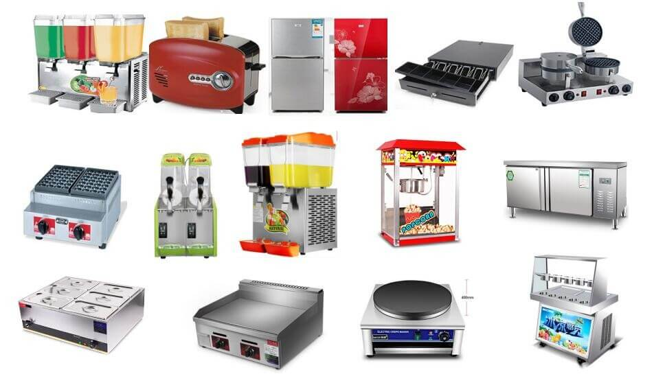 helpful food equipment for electric food cart