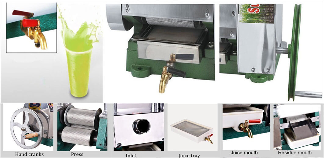 manual sugarcane juicer application and features