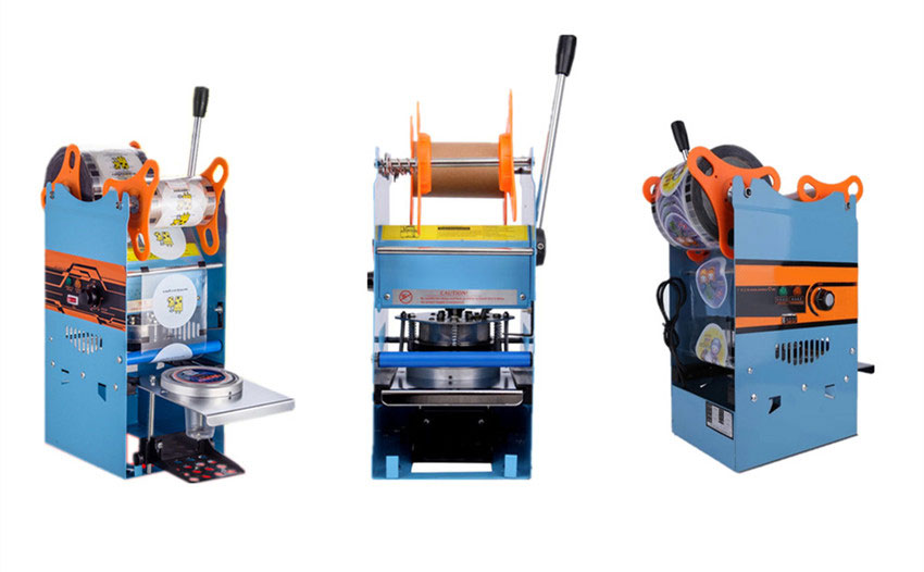 manual tea cup sealing machine