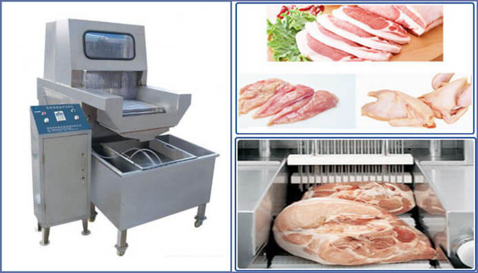 meat brine injecting machine application