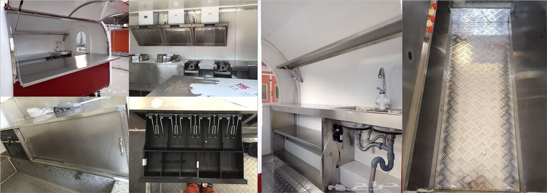 optional inner structure of electric food cart