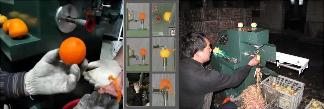 persimmon and apple peeling process by persimmon peeler machine