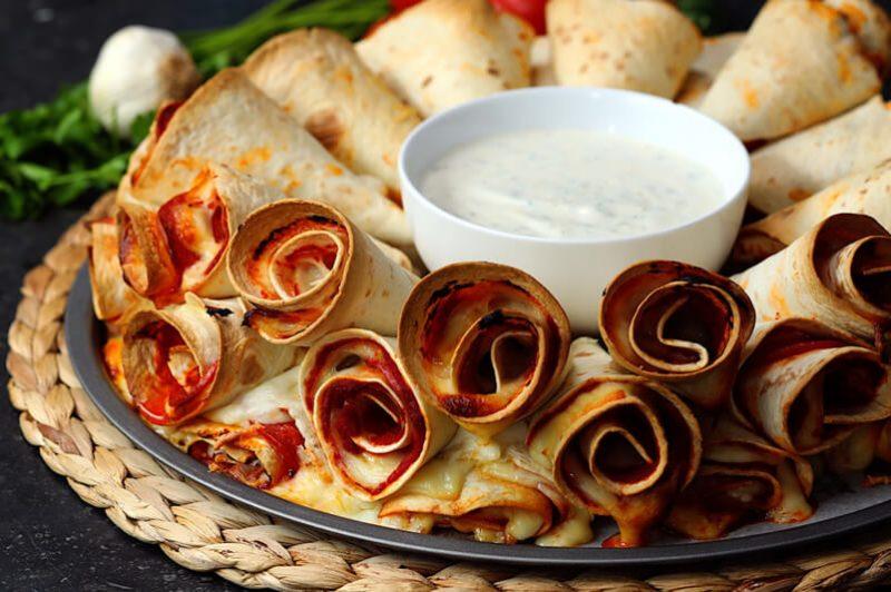 pizza cone pasta food