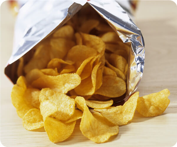 potato chips by small potato chips line