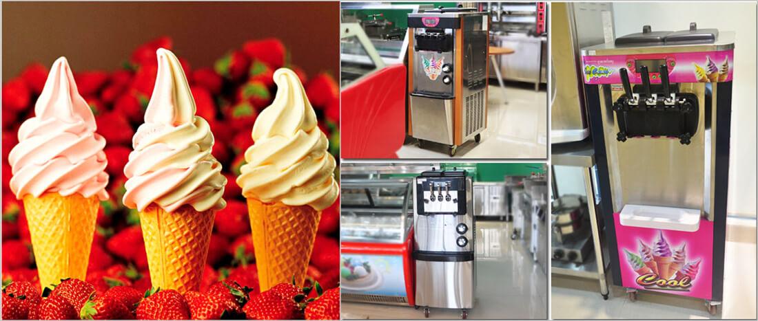 soft ice cream vending machine show