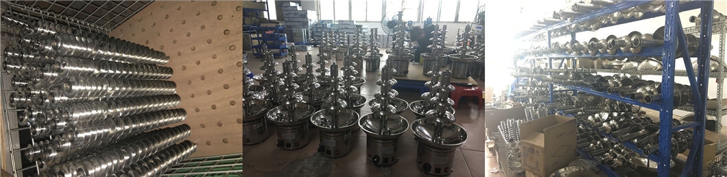 stainless steel chocalate fountain machine manufacturing workshop
