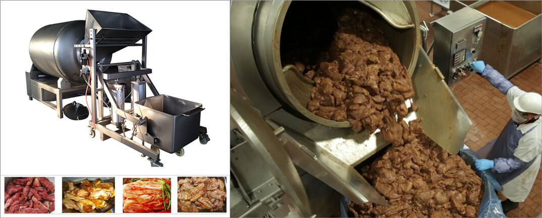 vacuum meat tumbling machine application