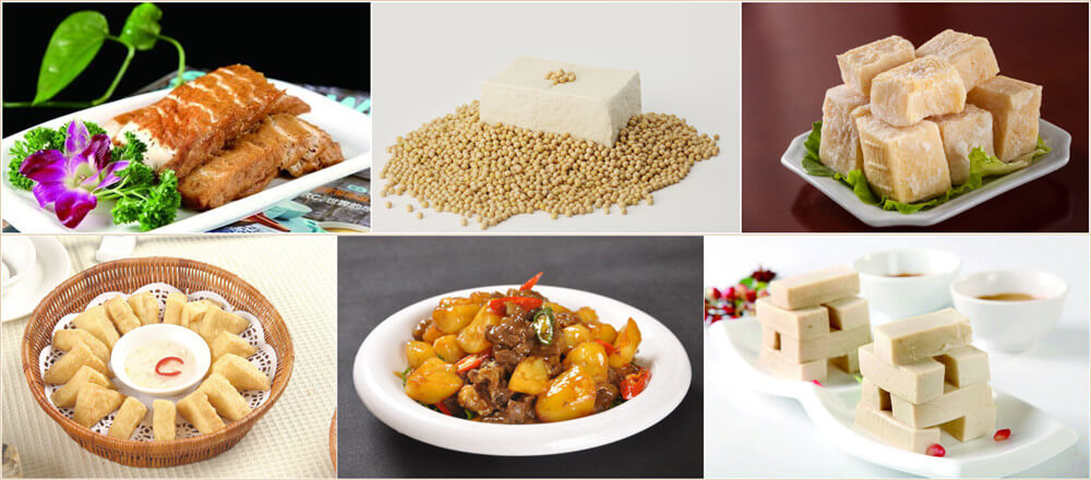 various tofu food