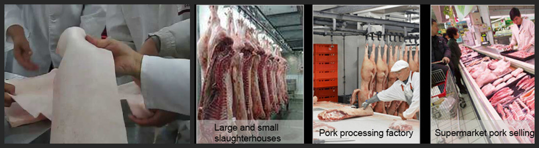 wide application of pork skin removal machine