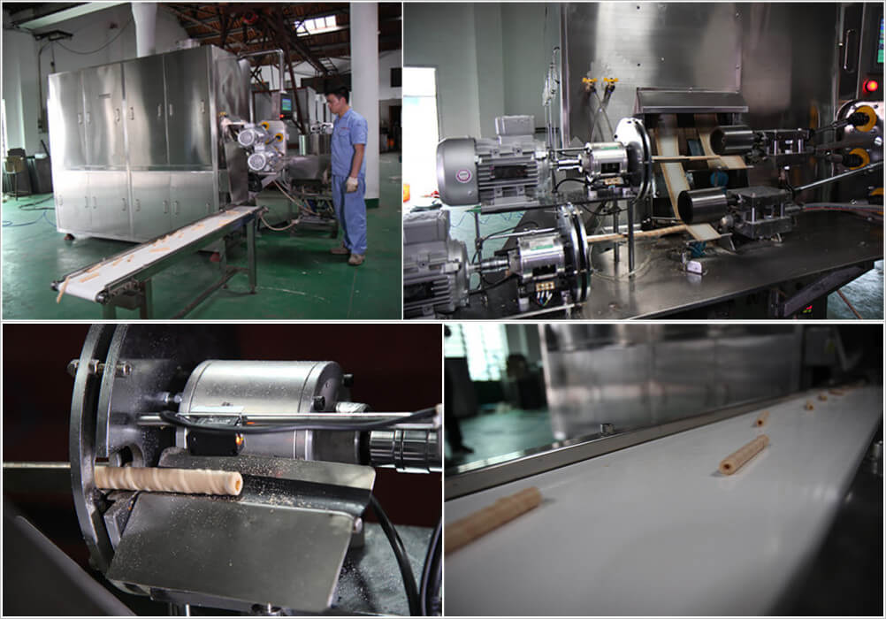 working steps of automatic egg roll making machine