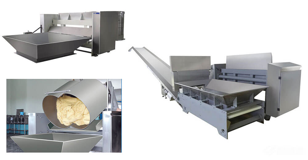 Dough Dumper Machine and conveying machine