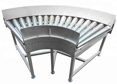 90 angle roller conveyor