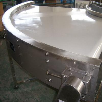 90-degree belt food conveyor