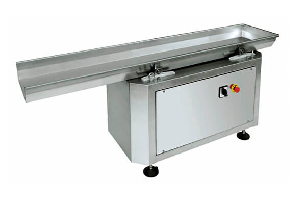 Horizontal fastback motional food conveyor