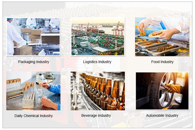 application of turning belt food conveyor
