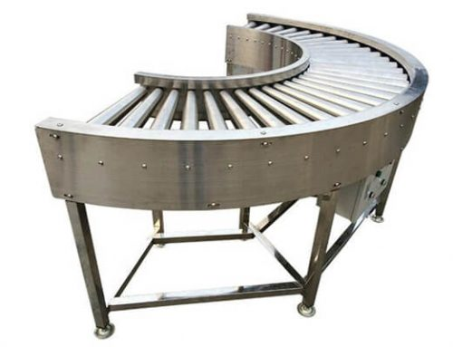 Curved Food Roller Conveyor