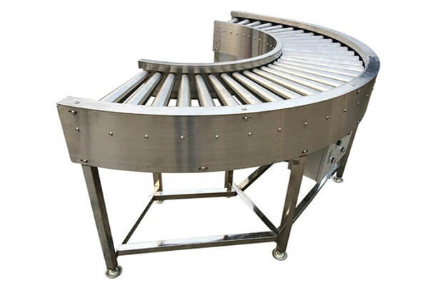 curved type roller conveyor