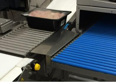 food roller conveyor for food transport