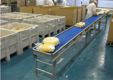 straight roller conveyor for conveying butter