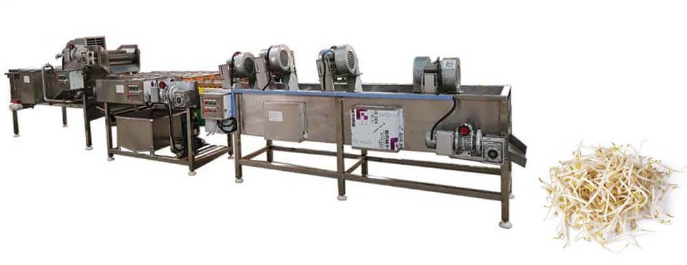bean sprout cleaning dewatering machines