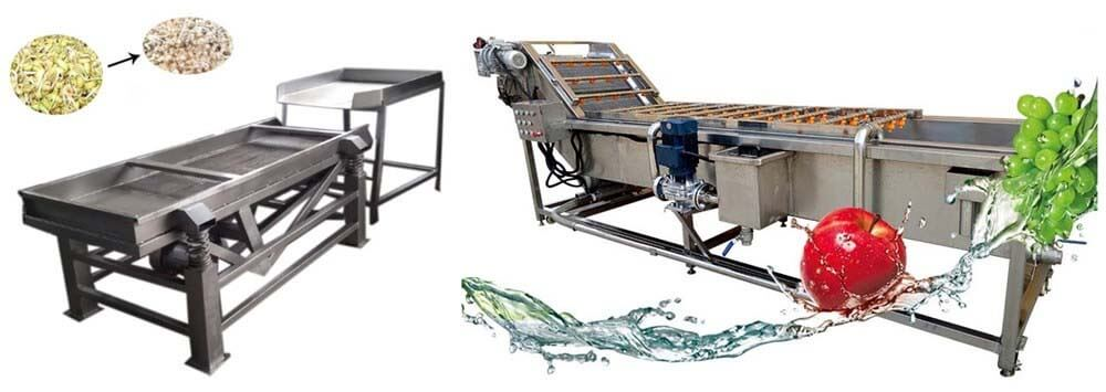 bean sprout shelling machine and washing machine